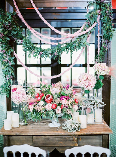 greens_pink_garland_floral_wedding_event