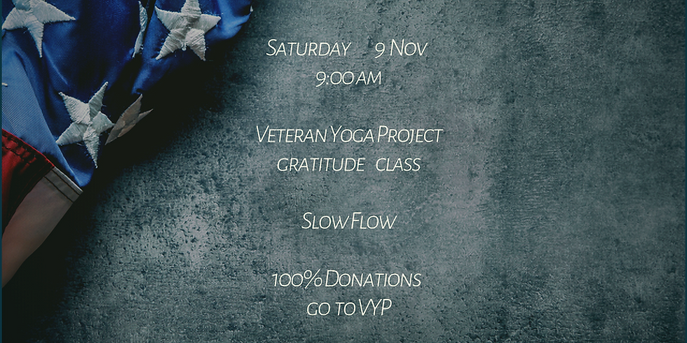 Gifts from the Heart:  Veterans Yoga Project Donation Class