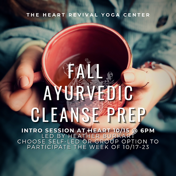Autumn Ayurvedic Cleanse Info Session