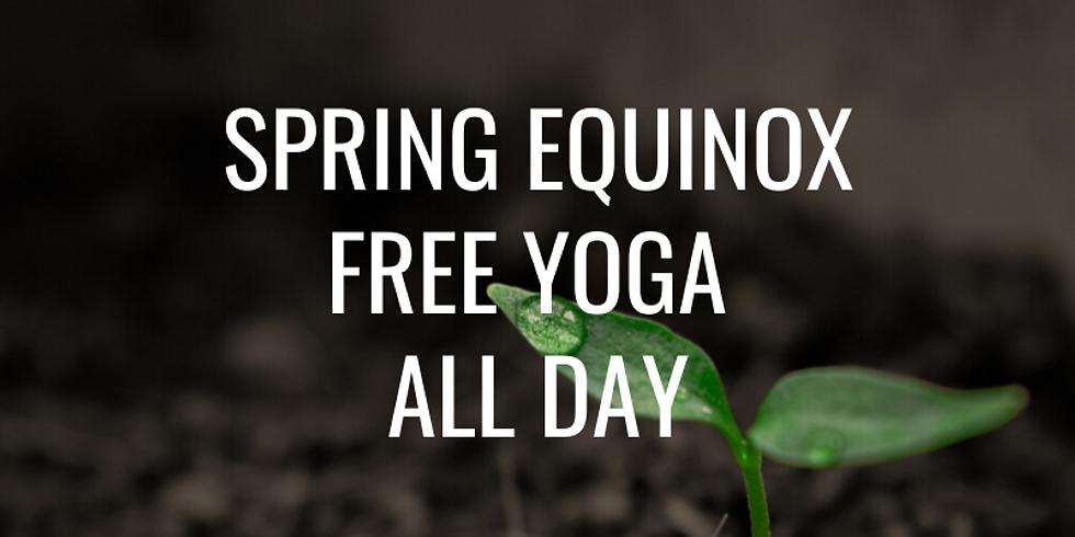 Spring Equinox: Free Yoga All Day!