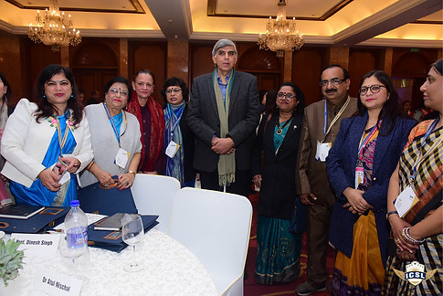 Prof Disnhes SIngh (Chief Guest, ICSL Book Launch) with other delegates