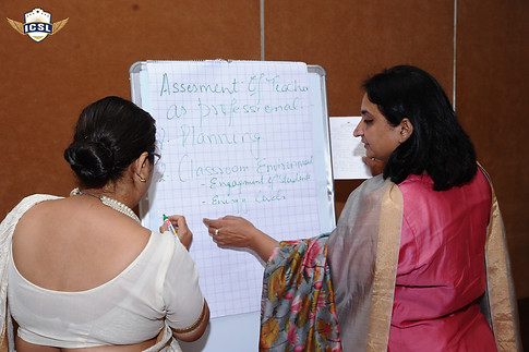 School leaders participating in an activity