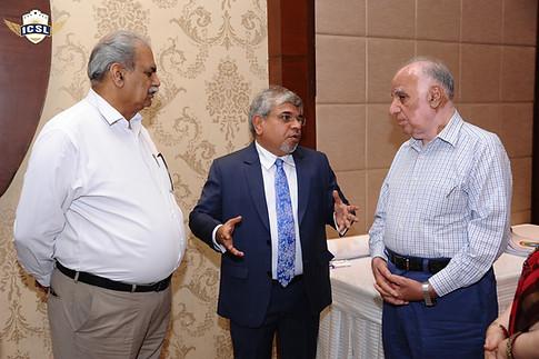 (L-R) Mr. M. P. Sharma, Senior Vice President, Jaypee Schools, Noida, Dr. Atul Nischal, Mr. Suraj Prakash