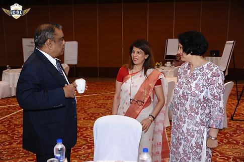 (L-R) Mr. G. Balasubramanian, Ms. Alka Sahani, Vice Principal, Maharaja Agarsain Public School, New Delhi, Dr. Anuradha Rai