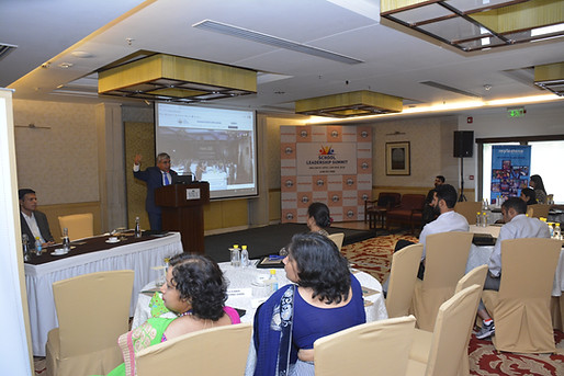 Dr. Atul Nischal addressing Principal's at ICSL Mysletone Leadership Summit