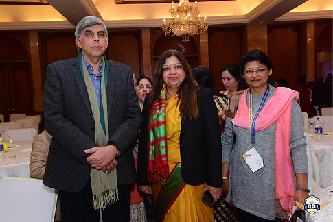 Prof DInesh Singh with Dr Sangeeta Arora at ICSL Book Launch with other delegate