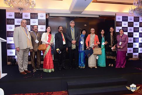 Prof Dinesh Singh (centre) with Ms Manika Gaur (Director Education- Jayppe Group), Mr M P Sharma (Director Education - Jaypee Group, Dr Vivekanandan and other delegates