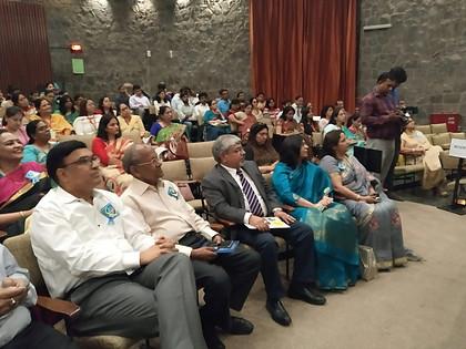 Dr.  Atul Nischal, Founder Director, ICSL with Mr. S. L. Jain, Director, Mahavir Senior Model School at Forum of Public School Annual Conference, IIC, New Delhi