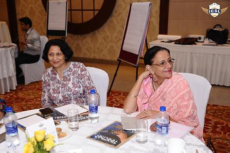 (L-R) Dr. Anuradha Rai, Dr. (Mrs.) Indu Khetarpal, Principal, Salwan Public School, New Delhi