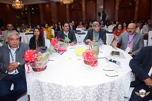 Prof Dinesh Singh (centre) with other delegates