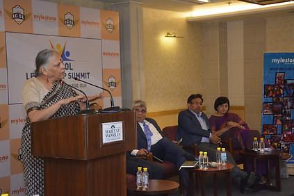 Mrs. Vinita Kher addressing delegates