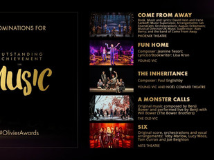 Olivier Award Nomination for Outstanding Achievement in Music 2019 #OliverAwards