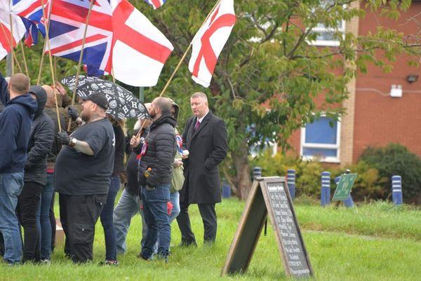Golding's Britain First Thugs Harass Wigan Asylum Seekers