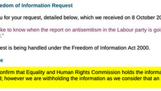 EHRC Refuses To Say When - Or If - Its 'Labour Antisemitism' Report Will Be Published