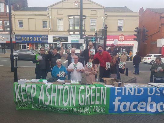 Protesters Defend Ashton Green Belt