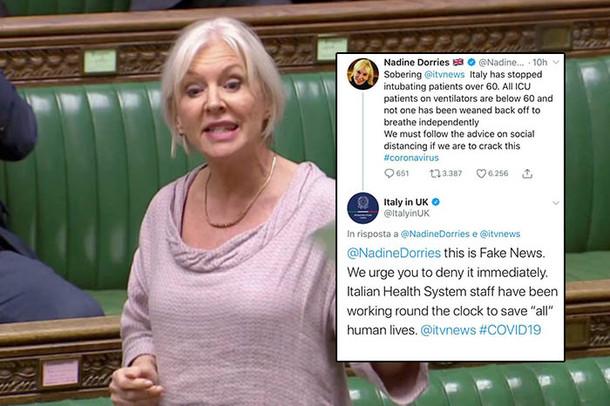 Mad Nad's At It Again - Health Minister Dorries Tweets Fake Coronavirus News