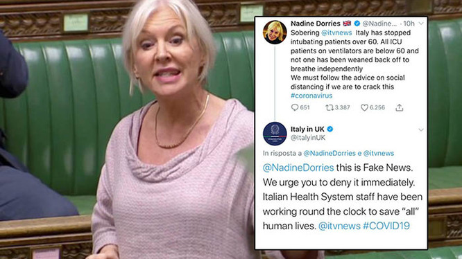 Mad Nad's At It Again - Health Minister Dorries Tweets Fake Coronavirus News