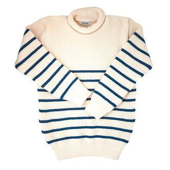 Mini Roll Neck Mariner - Sea Shell / Trail Blue