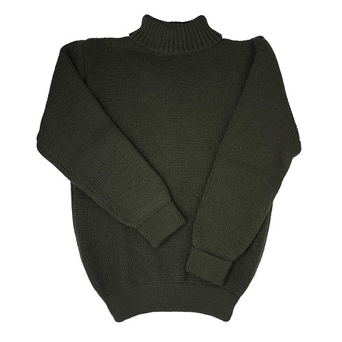 U Boat Roll Neck - Military Green