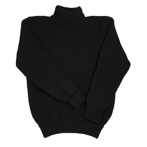 U Boat Roll Neck - Schwarz (Black)