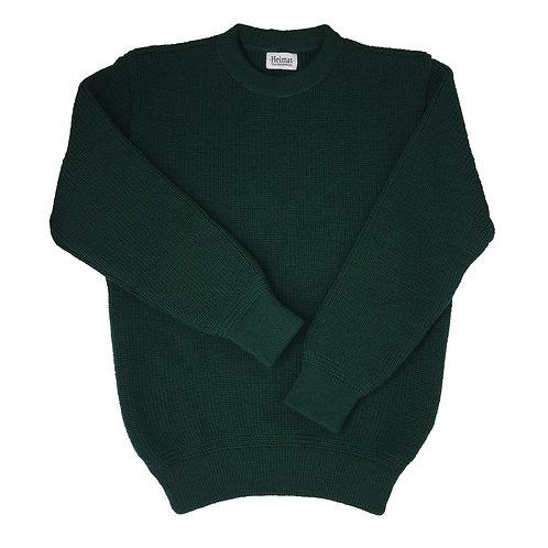 Crew Neck Sweater - Tannen Grün