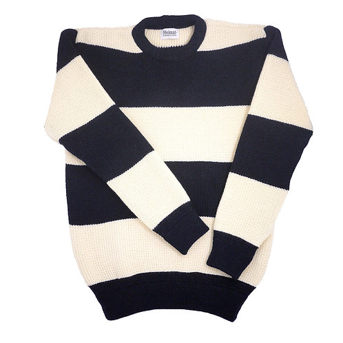 Rugby Crew Neck - Ink(Navy) / Seashell
