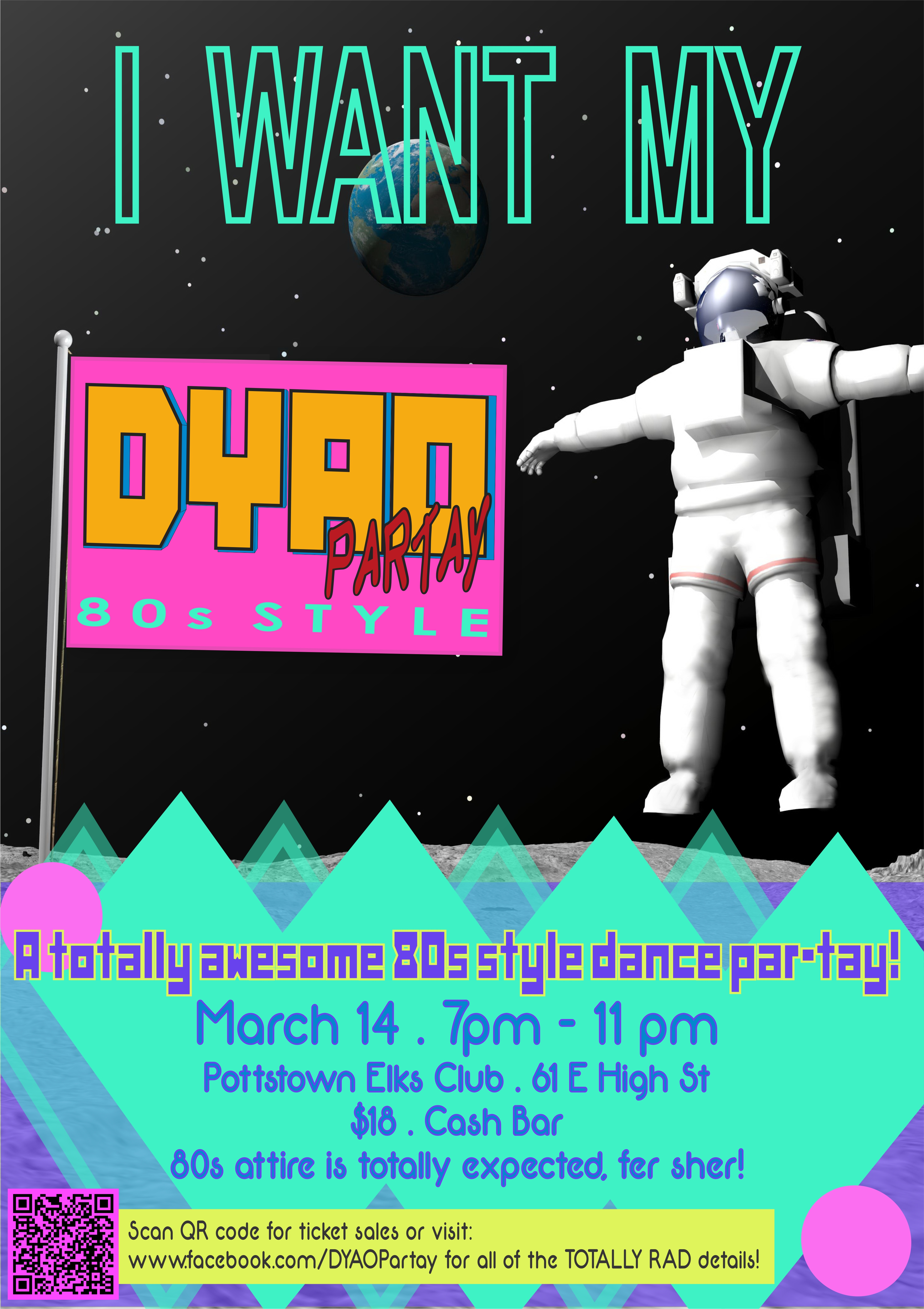 DYAO Partay 80s Style Poster