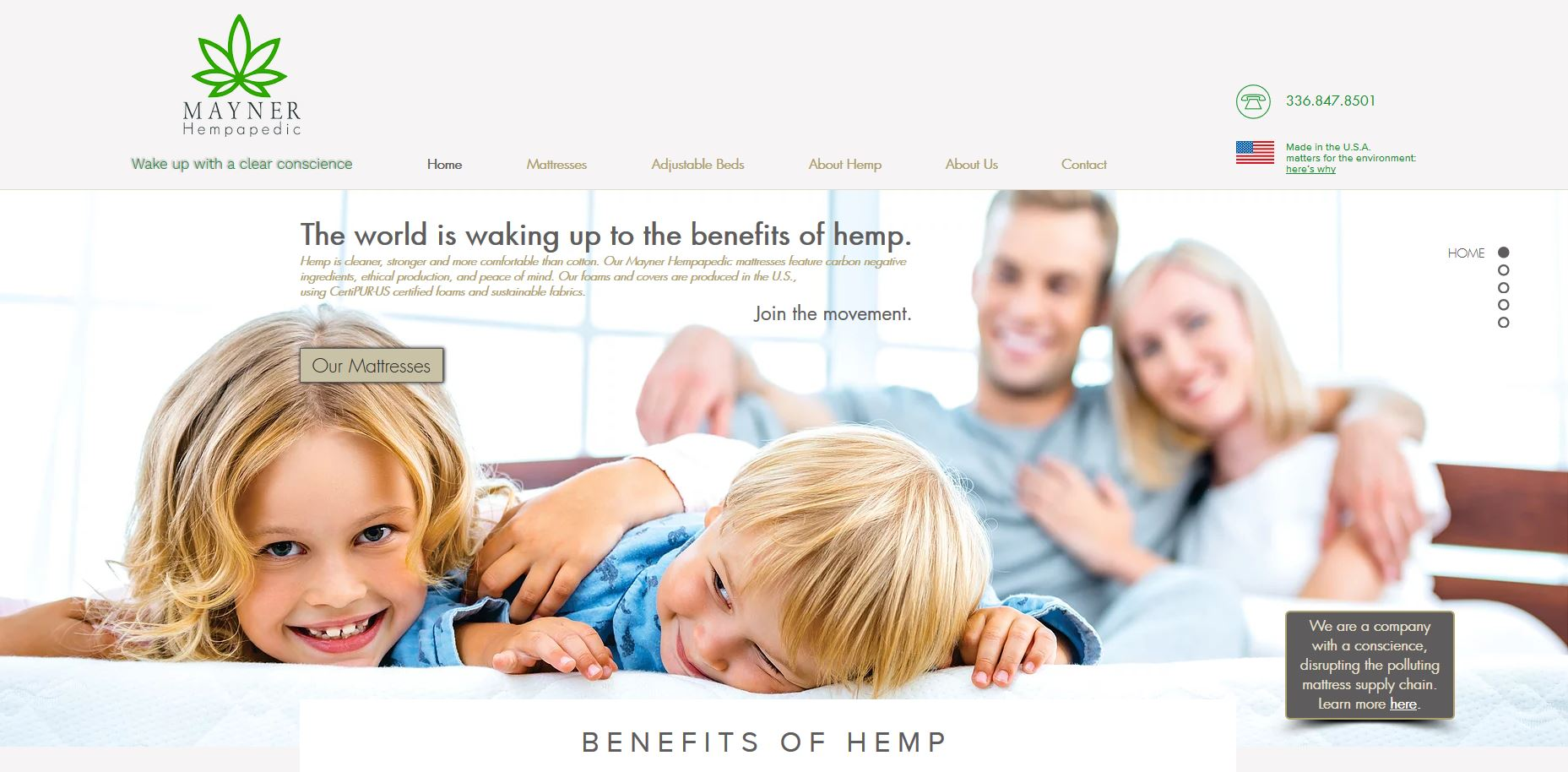 Mayner Hempapedic Website