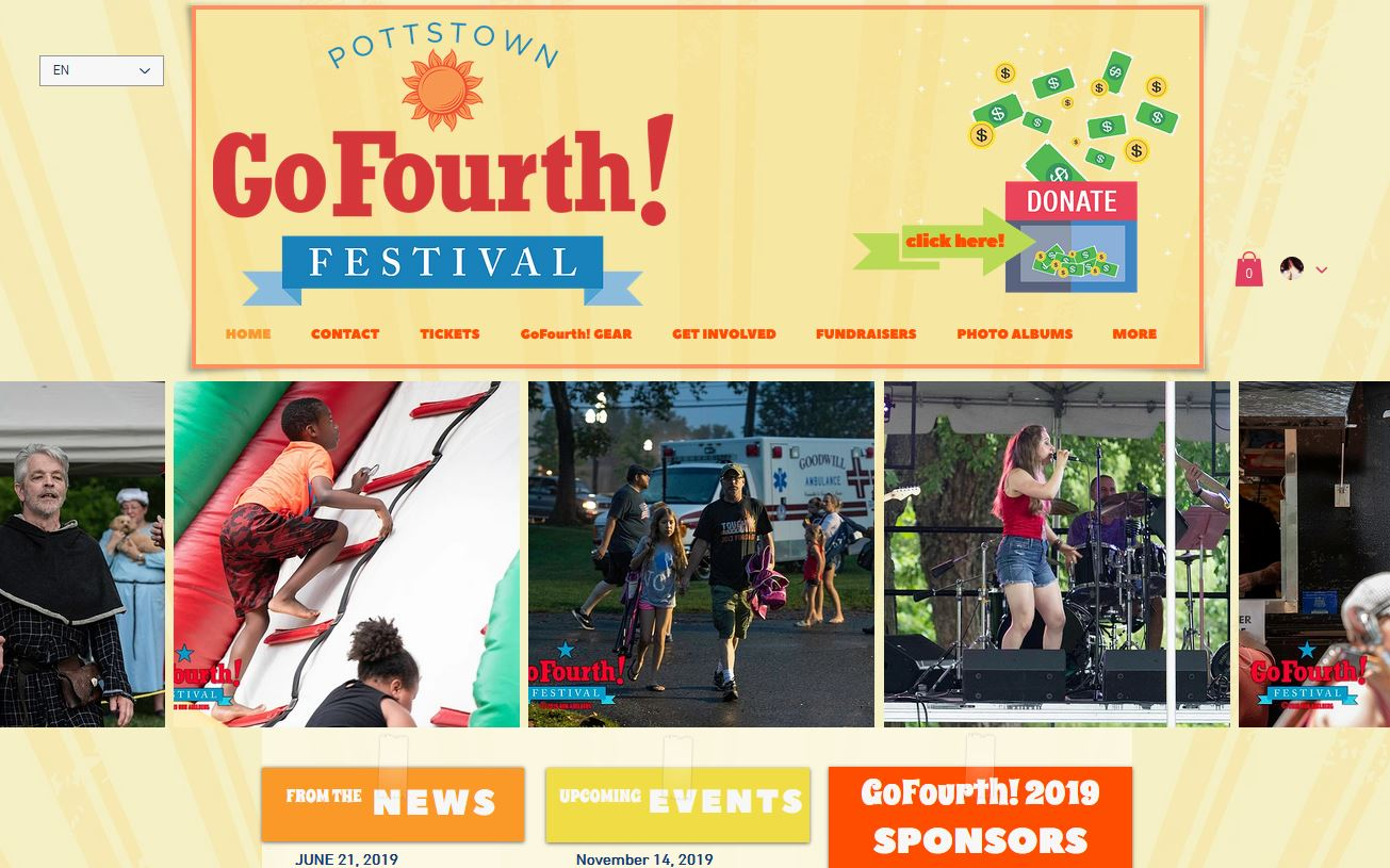Pottstown GoFourth! 2020 Festival Websit