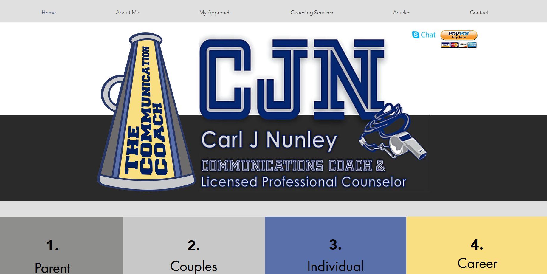 Communications Coach Website