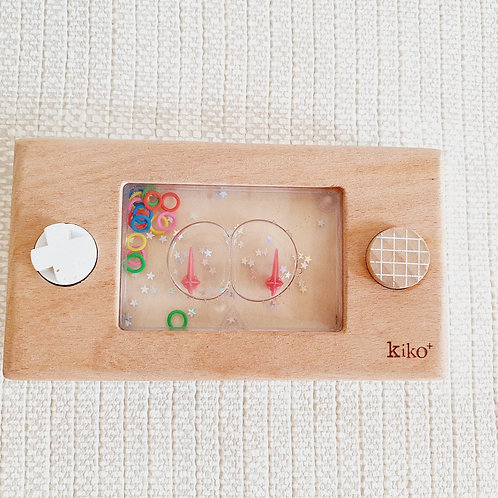 Wooden water play console