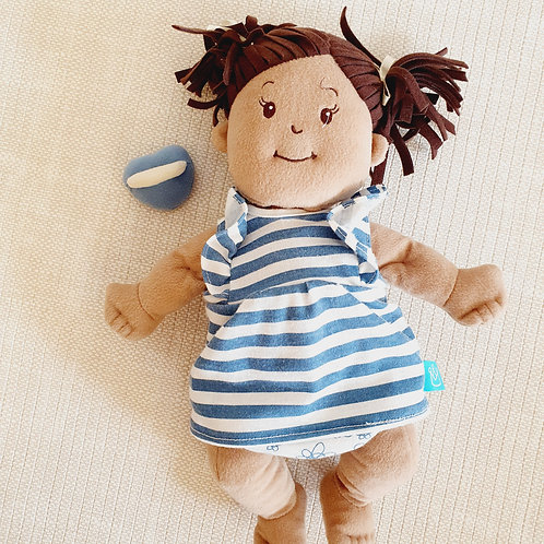 Doll with magnetic pacifier