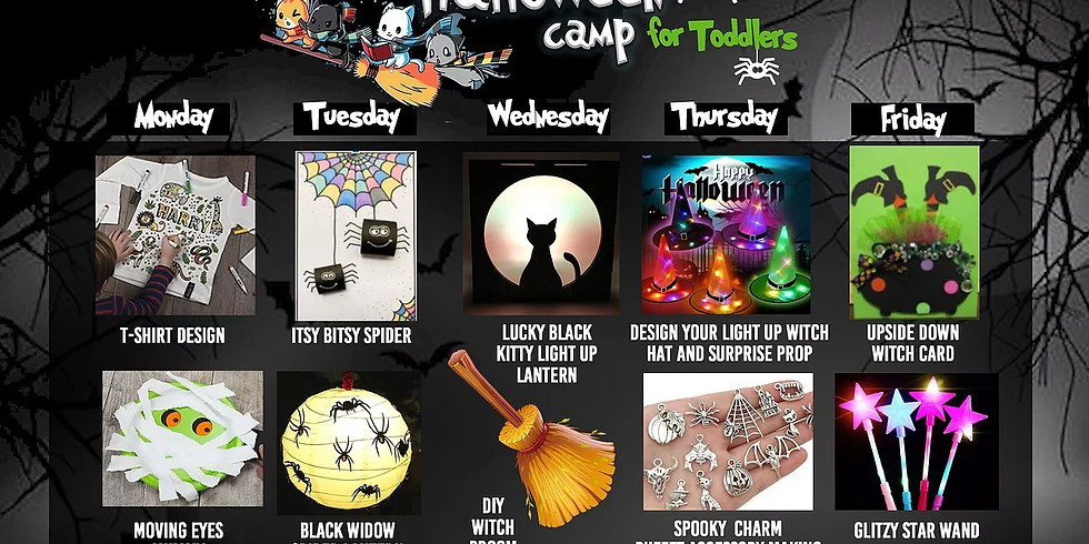 18th - 22nd October: Halloween Arts Camp (3-5 years)