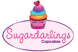SugarDarlings Logo 2019 rainbow cupcake.