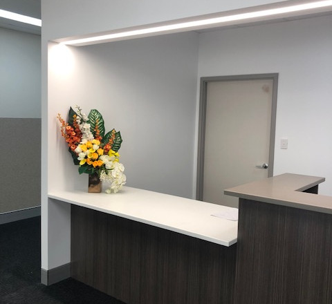 Accessible Section of Reception Counter
