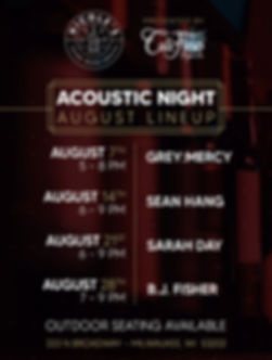 Live Show Schedule - August Lineup ONLIN