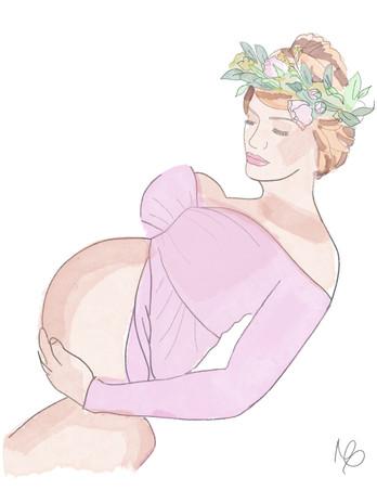 PREGNANT ILLUSTRATION