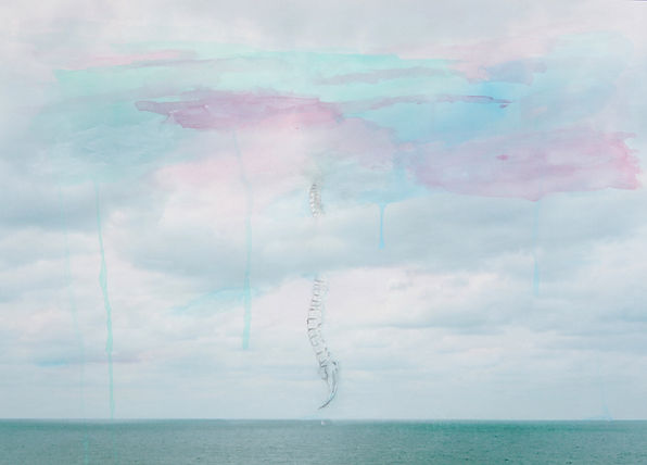 sky line#3, 2010, pencil on pigment prin