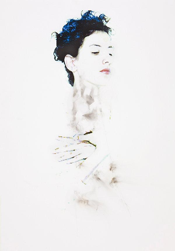 campur#1, 2010, lampblack on pigment pri