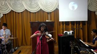 Cristo es la Peña (Violin) - Hnas Nicole (Violin) y Carla (Piano)
