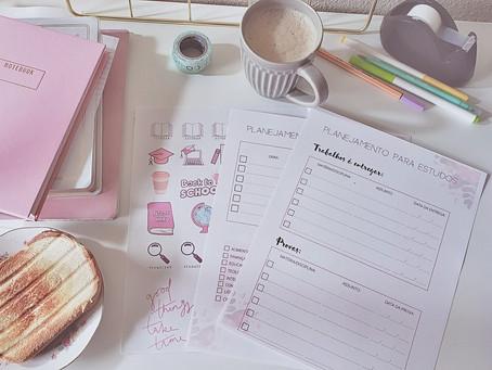 Planner para Estudos