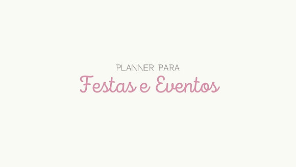 Planner Festas/Eventos [download pdf.]