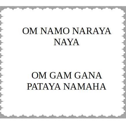 Vishnu & Ganesha Mantra