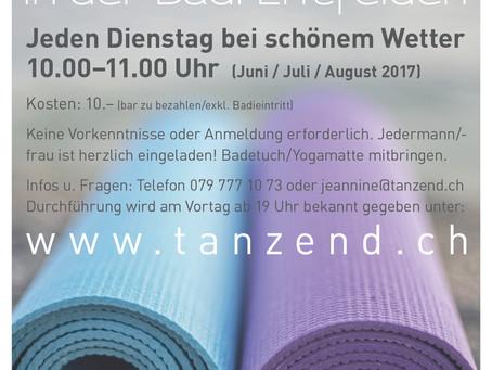 Start Pilates in der Badi Entfelden
