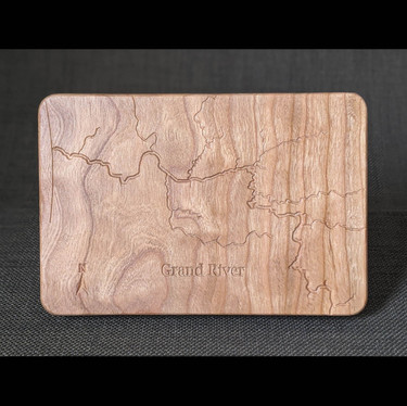 Grand River Engraving on Fly Box
