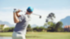 Man playing golf with peace of mind becasue of Nubryte smart home security video alerts.