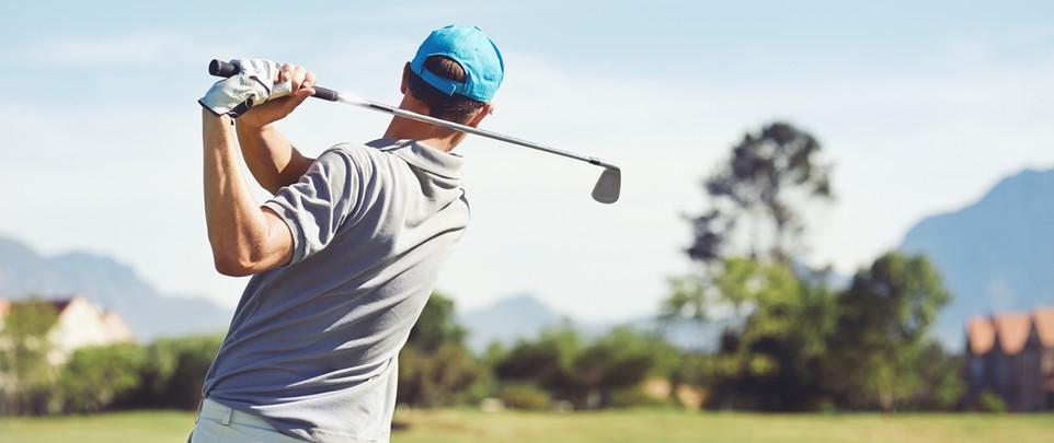 Golf golfista golpear