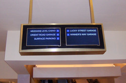 Designed and manufactured all 30+ digital directional signs - Tampa Hard Rock Casino