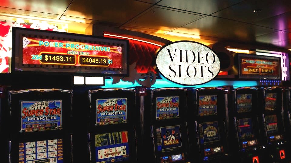 Progressive Video Slot Sign - Royal Caribbean Cruise Lines