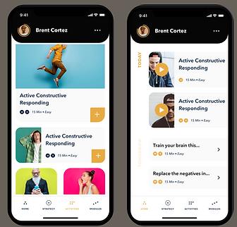 Be Well Plan app screens